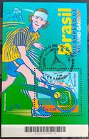Brazil B 121 Bloco Guga Tricampeão De Roland Garros Tenis 2001 CBC - Ungebraucht