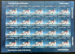 2020 Tourism, Our Lady Of The Rocks, Gospa Od Škrpjela, Sheet Of 20 Stamps, Montenegro, MNH - Montenegro