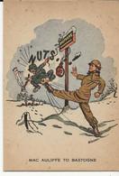 """42 - MAC AULIFFE TO BASTOGNE """" Dessin De Miessen"""" - Guerre 1940-45 - Bastogne"""