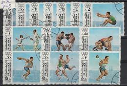 JO72/E45 - FUJEIRA 13 Val. Obl. Jeux Olympiques 1972 - Fujeira