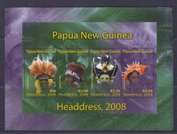 Papua New Guinea 2008 Headdress Sheetlet MNH - Papua-Neuguinea