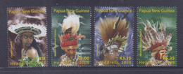 Papua New Guinea 2008 Headdress Stamps MNH - Papua New Guinea