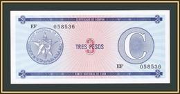 Cuba 3 Pesos 1985 P-FX20 UNC - Cuba