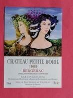 ETIQUETTE BERGERAC CHATEAU PETITE BORIE 1989     26/09/20 - Bergerac