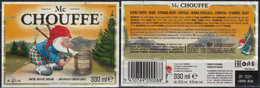 Belgique Lot 2 Étiquettes Bière Beer Labels Mc Chouffe Brune - Birra