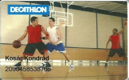 BASKETBALL * SPORT * DECATHLON STORE * CLUB CARD * CUSTOMER CARD * LOYALTY CARD * Huseg Kartya 23 * Hungary - Sport