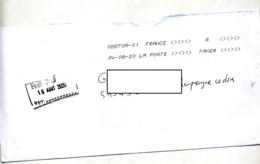 Lettre  Flamme Chiffree Sous Code Symbole Inegalite à Taxer - Marcophilie (Lettres)