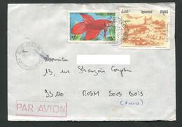 Lettre Cambodge Cachet Kampuchea VN754 - Cambogia