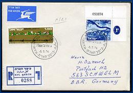 Israel 3.3.1976, West Bank Reko Luftpost Brief V. Kifl Harith N. Deutschland - Sin Clasificación