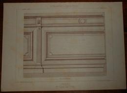 Lambris. Menuiserie - Ebénisterie.  M. Vaudois, Menuisier à Creil. 1887. - Planches & Plans Techniques