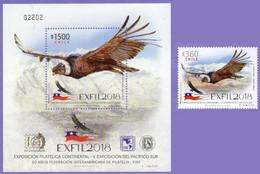 Chile 2018. Birds Condor. Fauna. MNH - Chile