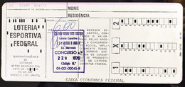 Brazil Cartão Loteria Esportiva Federal Concurso 229 1975 Lottery Ticket - Other Collections