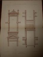 Fenêtres. Menuiserie - Ebénisterie.  M. Lamy, Menuisier à Troyes 1887. - Planches & Plans Techniques