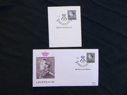 """BELG.1983 2111 Op Fragment & FDC Bruxelles -Brussel  : """" Roi Léopold III / Leopold III """" - FDC"""