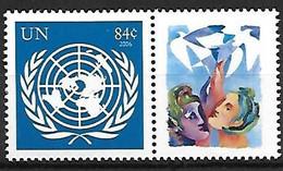 ONU - Nations Unies - New York - N° Yvert  1038 - Année 2007 - Emblème De L'ONU Avec Vignette Personnalisée - - Ohne Zuordnung