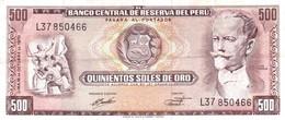 Peru P.104 500 Soles 1970 Xf - Perú