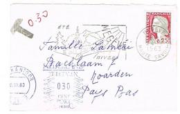 MIGNONNETTE ADRESSE AUX PAYBAS TAXEE A L'ARRIVEE EMPREINTE MECANIQUE - Marcophilie (Lettres)