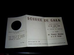 Vieux Papier Carte De Visite On D'invitation Artisans Du Devoir Patriotique   Soirée De Gala A Toulouse Capitole 1942 - Mededelingen