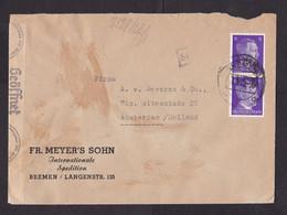 Germany: Cover To Netherlands, 1942, 2 Stamps, Hitler, Censored, Censor Tape & Cancel (damaged) - Allemagne
