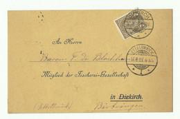 2 Centimes Olive Obl. Dc DIEKIRCH Sur Carte Imprimé (General-Versammlung Diekircher Fisherei-Gesellschaft - PECHE) Du 17 - 1895 Adolphe Profil