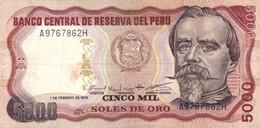 Peru P.119 5000 Soles 1979 Fine - Perú