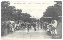 Villeneuve Sur Yonne Peu Commun Cyclisme Une Course Cycliste De L' U.S.V. (Route De Sens) Collection Karl Guillot - Villeneuve-sur-Yonne