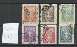 LITAUEN Lithuania 1926/27 Michel 268 - 273 O - Lithuania