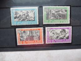 Belgie Erinnofilie E 30/33 Belgique Ernophilie 30/33 Mnh Neuf ** Prisonniers - Commemorative Labels