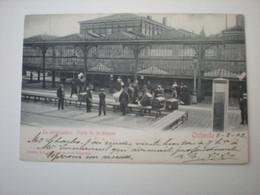 OSTENDE 1902 - LE DEBARCADERE - VISITE DE LA DOUANE - ED. V. G. 42 - Oostende