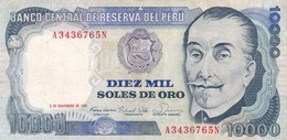 Peru P.124 10000 Soles 1981 Xf - Perú