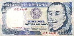 Peru P.124 10000 Soles 1981 Vf - Perú