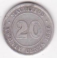 Ile Maurice 20 Cents 1886 , Victoria , En Argent - Mauritius