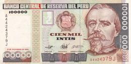 Peru P.145 100000 Intis 1989 Xf - Perú