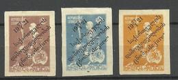 GEORGIEN Georgia 1921Michel 24 - 26 * Signed - Georgia