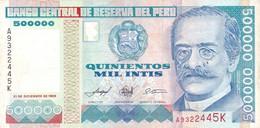 Peru P.147  500000 Intis 1989 Xf - Perú