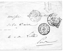 PARIS*FRANCHISES (n°2077),BUREAU (2530) Et 1520. - 1849-1876: Classic Period