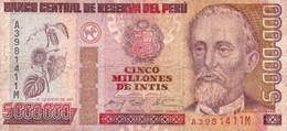 Peru P.150  5000000 Intis 1991 Fine - Perú