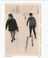 8144.   Vecchia Old Foto Photo Italy Donne Women Montagna Mountain Sci Sky - Piemonte Val D' Aosta 1965 - Persone Anonimi