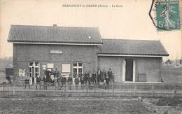 BRANCOURT LE GRAND - La Gare - Cachet Ambulant Erquelines à Paris 1910 - Other Municipalities
