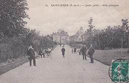 SAINT OMER JARDIN PUBLIC -ALLEE PRINCIPALE ,PERSONNAGES    REF 67509 - Saint Omer