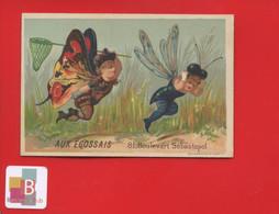 Ravissante Chromo Ecossais Confections H. Bouts Paris Testu & Massin Anthropomorphisme Enfants Papillon Filet Libellule - Andere