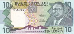 Sierra Leone P.15 10 Leones 1988 Unc - Sierra Leone