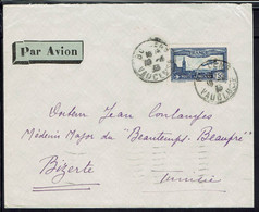 Fr - 1936 - P.A N° 6 Seul Sur Enveloppe De Bollène Pour La Tunisie - B/TB - - 1927-1959 Lettres & Documents