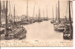 DOEL KADE 1904 HOELEN  272 VISSERSBOTEN Met Zegel  1453 D6 - Belgium