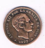 5 CENTIMOS 1877  SPANJE /7623/ - [ 1] …-1931 : Kingdom