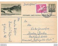 """161 - 98 - Entier Postal Avec Illustration """"Neuhausen Am Rheinfall - Cachet à Date Basel 196 - Ganzsachen"""