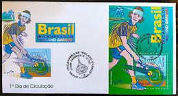 Brazil Stamp FDC 706 Bloco B 121 Roland Garros Gustavo Keurten Guga Tenis 2001 - Ungebraucht