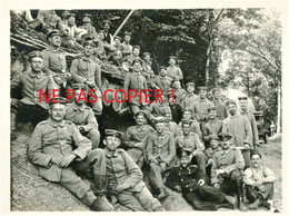 PHOTO ALLEMANDE DE LA FLA 31 - SOLDATS - OFFICIERS ET BALLON A MONCHEUX PRES DE LUPPY - METZ - MOSELLE GUERRE 1914 1918 - 1914-18