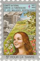 VIGNETTE GRAND FORMAT COMITE NATIONAL CONTRE LA TUBERCULOSE -ANNEE 1971-72-SIGNEE DELRIEU - Antituberculeux