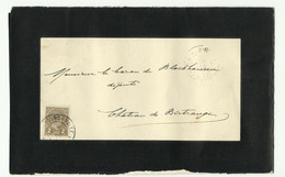 2c. ADOLPHE Obl. Dc LUXEMBOURG-VILLE Sur Faire-part De Deuil (Charles ENGEL Avocat) Le 17-02-1900 Vers Birtrange - 1627 - 1895 Adolphe Profil